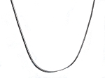 Sterling Silver 8 side  0.9 mm 16 Inch Snake Chain Necklace