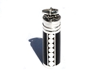 Sterling Silver Bali Black Accents Cylinder Prayer Box Pendant