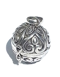 Sterling Silver Balinese  Large Round Ball Prayer Box