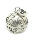 Sterling Silver Hand Made Balinese 15 MM Chime Harmony Ball Pendant