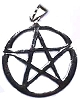 Sterling Silver 5 Point Star Pentagram Charm Pendant