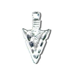 Sterling Silver Diamond Cut Arrow Head Pendant