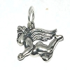 Sterling Silver Flying Angel Charm Pendant