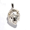 Sterling Silver Diamond Cut Lion Head Pendant