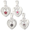 Sterling Silver Heart Cage With CZ Heart Dangle Pendant