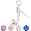 Sterling Silver High Heeled Stiletto CZ Pendant