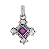 Sterling Silver Hand-Made Genuine Amethyst Bali Pendant