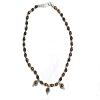 Sterling Silver tiger eye and silver beaded 16 inch Necklace