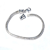 Sterling Silver 7 1/2 inch 3.2mm Snake Bracelet with Screw off Top