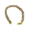 Sterling Silver Vermeil 8 Inch  tri-color 8mm Bracelets