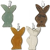 Handcarved Bunny Stone Pendant - assorted Stones  Sold by Piece