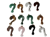 Hand carved Question Mark ?  Stone Pendant - assorted Stones Sold by Piece