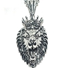 316L Stainless Steel Detailed King Lion Pendant