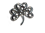 Stainless Steel Celtic Knotted Irish Shamrock Pendant