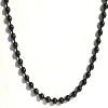 Black Stainless Steel 24 Inch 2mm Ball Link Neck Chain Necklace