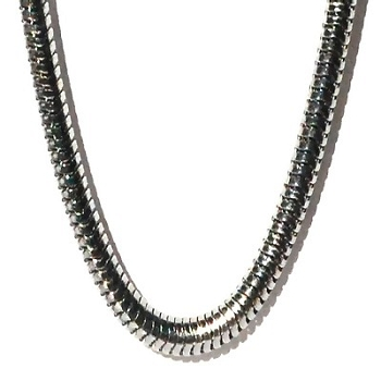 Stainless Steel 21.5 Inch 3mm Round Snake Neck Chain Necklace