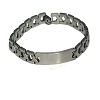 Stainless Steel 7 1/2 inch Link ID Bracelet 8mm wide