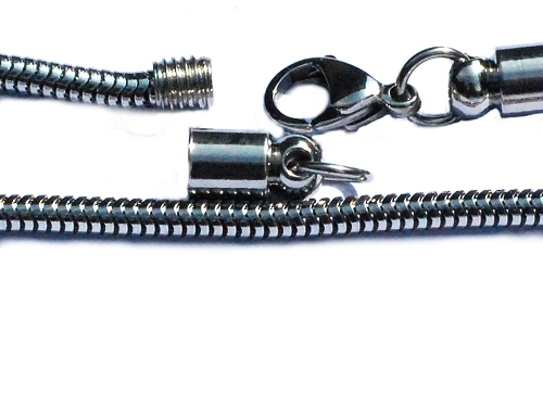 Stainless Steel European 3.2mm Snake Bracelet with SCREW off Ends