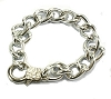 Silver Color 8 Inch Chain Link bracelet 13mm wide