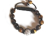 Tranquility Friendship bracelets with Rhinestone and Tiger Eye Beads