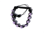 Tranquility Friendship bracelet with Lavender Glass Pearl Beads