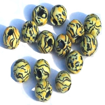 ANIMAL Print Bead 9 mm long with 3.5mm hole