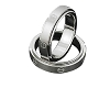 Men's 316L Stainless Steel Spinner Ring with screw design