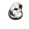Men's 316L Stainless Steel Angular Edged 7 mm Band Ring
