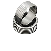 Men's 316L Stainless Steel 5 Textured Lines 8 mm Band Ring
