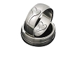 316L Stainless Steel Cut Out Join Hearts Band Ring 7.5mm Wide