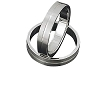 Men's 316L Stainless Steel Textured Line 5mm Band Ring
