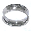 Men's 316L Stainless Steel Tribal Engraved 9 mm Convex Band Ring