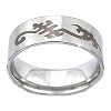 Men's 316L Stainless Steel Tribal Engraved 10 mm Band Ring