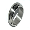 316L Stainless Steel 8mm Spinner Ring with Gecko