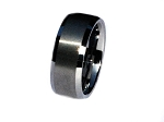 Tungsten Carbide 8 mm Matte Smooth Brush Center Ring
