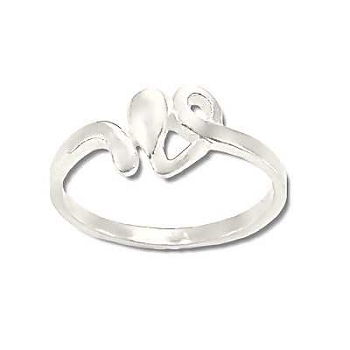 Sterling Silver Swirling Heart Ring