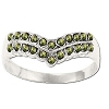 Sterling Silver Genuine 22 Marcasite V-Shape Ring