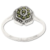 Sterling Silver Genuine Marcasite 9 Stone Ring