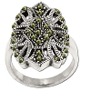 Sterling Silver Genuine Marcasite Filigree Ring
