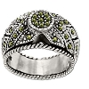 Sterling Silver Genuine 35 Marcasite Woven Band Ring