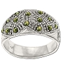 Sterling Silver Genuine 16 Marcasite Band Ring