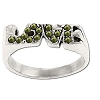 Sterling Silver Genuine Marcasite Love Ring