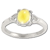 Sterling Silver Genuine Citrine Prong Rings