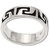 Sterling Silver Etched Tribal Rings Band