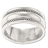 Sterling Silver Ladies Rope Edge Band Ring