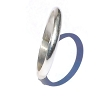 Sterling Silver Ladies Polished 4 mm Round Edge Band Ring