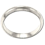 Sterling Silver Ladies 3mm Round Edge Band Ring