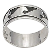Sterling Silver Bali Wave Crests Band Ring