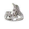 Sterling Silver Unicorn Full Large Ring
