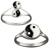 Sterling Silver rings with an Ying Yang design.